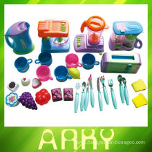 Lovely Pink Girl Toys Plastic Kitchen Toys Set
