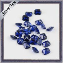 Hermosa forma de rectángulo azul octágono joya sintética de espina