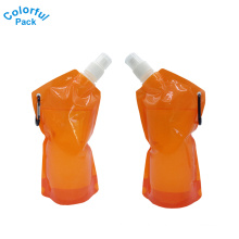 China suppliers liquid packing for fruit juice doypack with carabiner