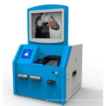 Quiosco del pago en efectivo con el aceptador de Bill, máquina del quiosco del pago de Bill Reader del lector de tarjetas, terminal del quiosco del pago del autoservicio