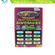 Magic Growing Dinasour Toys Capsules d'animaux Expanding Sponge Foam Capsule
