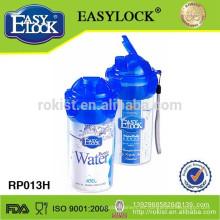 Botella de agua plástica libre de BPA con filtro 450ml
