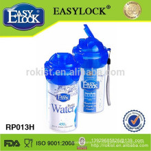 Garrafa de água plástica livre de BPA com filtro 450ml