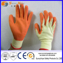 Crinkle finish Gants en caoutchouc latex recouverts de latex