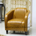 (SP-KS390) Modern Brown Leather Arm Chair Lounge for Hotel