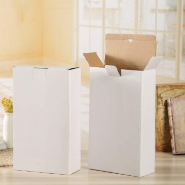 custom white carton box