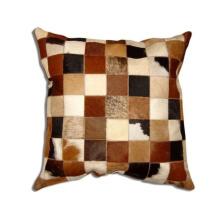Almohada de remiendo de piel de vaca natural sin rellenos