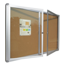 Wall-mounted 2 window notice board with lock