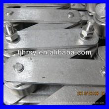 SS304 Cadena transportadora industrial con tensión de fuerza