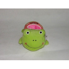 Plush frog mobile phone holder