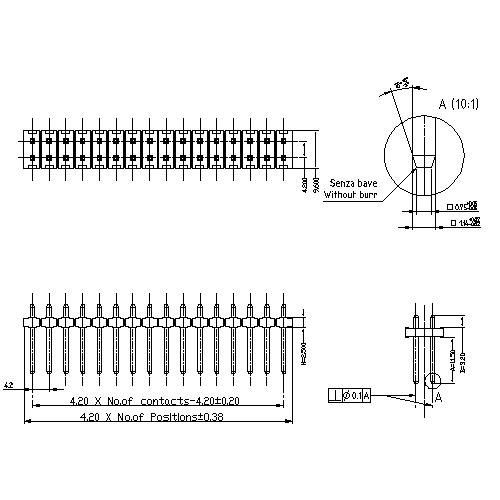 4.20 mm Pin Header DUAL ROW STRAIGHT TYPE PHHS01-XXS