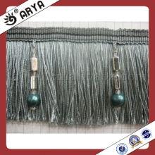 Cortina cepillo fringe recorte, cortina accesorios de decoración del hogar