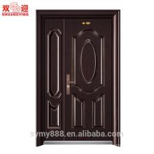 Baixo preço e porta de segurança blindada de aço popular da China