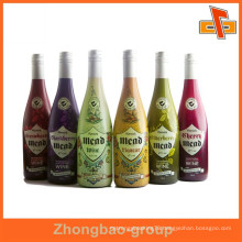 customized self adhesive wine bottle label with high quality and cheap price