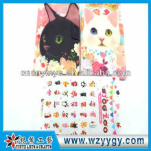 New design delicate plastic stickers with cover, fashion present stickers for kids