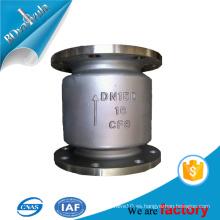 Válvula de retención estándar de material de acero en 2 '' 4 '' 6 '' para aceite de agua y gas