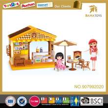 Cafe toy house for kid with sound and light