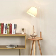 Functional Solid Wood Desk Floor Lamp