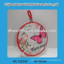 Sujetadores de cerámica del pote del trivet del diseño de la mariposa