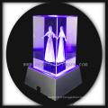 beauté de cristal gravé au laser 3D à base de led