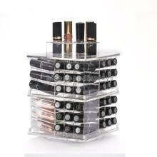 Qualität gesichert TableTop Acryl rotierenden Lippenstift Einzelhandel kommerziellen 80 Mac Lip Gloss Display Stand
