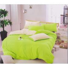 Vollfarbige grüne Farbe mit A + B verschiedenen Farbbettwäsche-Sets