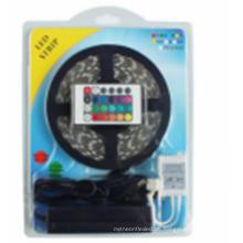 LED-Streifen-Lichter SMD5050 Imprägniern Sie 5M 60leds / Meter RGB-Farbe Flexible LED-Seil-Lichter mit 12V 5A Stromversorgung + 24 Schlüssel IF-Direktübertragung