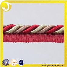 Algodón de los textiles Cuerda para la decoración del cojín Decoración del sofá Sala Sitio de la cama