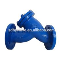 filtro de y do flange final DN50-DN1400 em ferro fundido dúctil