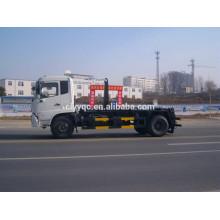 Dongfeng 4X2 крюк лифт мусоровоз С съемным Box для продажи