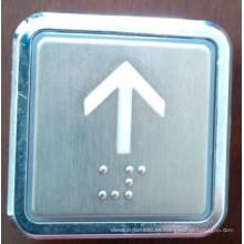 Botón cuadrado ascensor, elevador de empuje interruptor de botón (TNA-7)