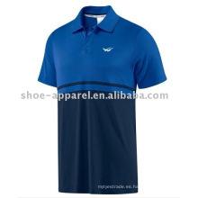 camiseta polo color mezclado para hombres