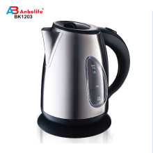 Anbo Дешевле 360 градусов Горячий продавать 1.7L Высококачественный электрический чайник из нержавеющей стали