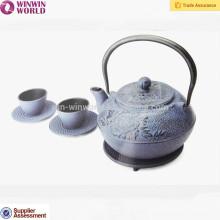 Arbeiten Sie chinesische Roheisen-Teekanne 1200ML, Metalltee-Töpfe mit Laser-Logo um