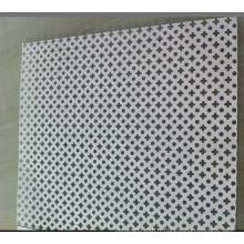 Feuille métallique décorative perforée en acier inoxydable