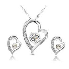 Hot Selling 925 Sterling Silver Earring and Pendant Jewelry Set