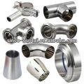Redutor sanitário de aço inoxidável do encaixe de tubulação