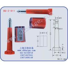 sello de alta seguridad BG-Z-011, sellos de perno, sello de contenedor