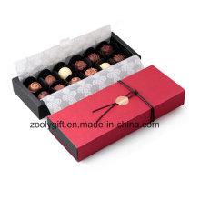 Calidad de papel hecho a mano de chocolate caja de embalaje