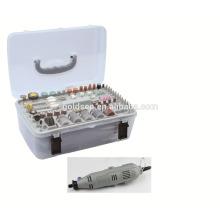 GS CE ETL 135w 217pcs poder da mão pequeno mini moedor kit portátil hobby rotary elétrica moedor ferramenta conjunto