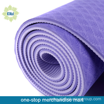 White yoga mat pvc thick exercise fitness