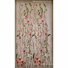 2017hot moda flores bordados borboleta tecido para mulher pano