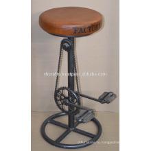 Промышленные велосипедной части барный стул Кожаные сиденья