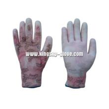 13G PU с покрытием Нейлоновая лайнерная рабочая перчатка