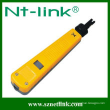 Желтый С ударным инструментом 110 типа Krone типа RJ45