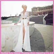 WD9068 Profesional para el vestido de boda de eiffel del tren del barrido de las ventas al por mayor