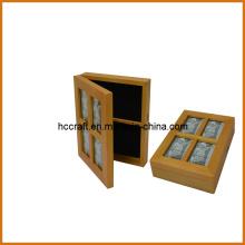 Caja de madera para la decoración casera