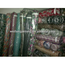 Printed fabric 100%rayon stock lot