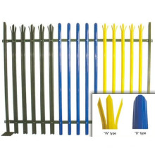 PVC Coated Galvanized Steel Palisade Fence (Europe)