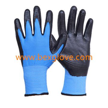 13 Gauge U3 Polyester Liner Nitrile Glove